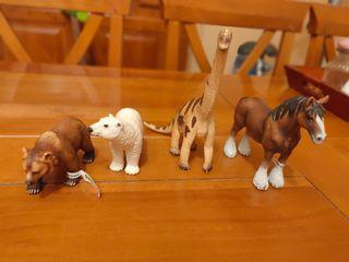 4 Figuras animales colección Schleich