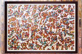 Saura Antonio-Fiesta en el Museo-litografía cinco