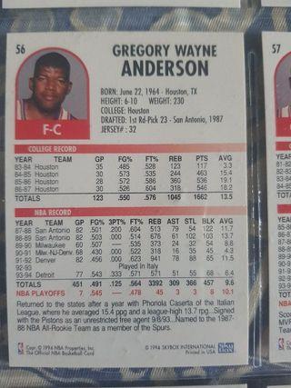Trading card CADILLAC ANDERSON (Detroit) #56