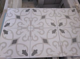 hidraulico porcelanico trébol gris