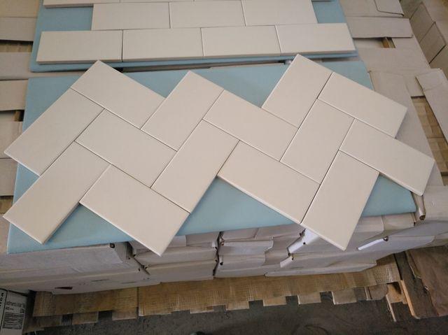 azulejo porcelanico metro blanco mate