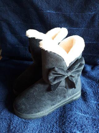 zapatos invierno, talla 33, negro
