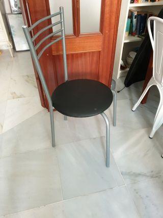 Silla metálica de comedor 4 sillas