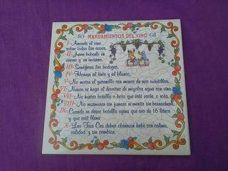 Azulejo de los mandamientos del vino