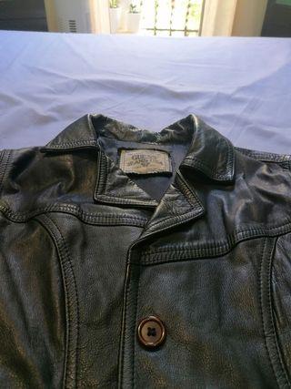 chaqueta cuero original marca guess