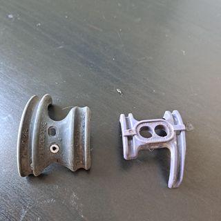 2 guias de cable caja pedalier