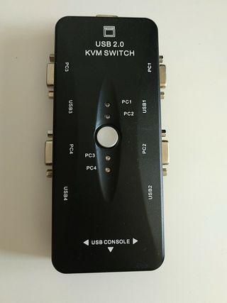 KVM switch 4 puestos VGA y USB