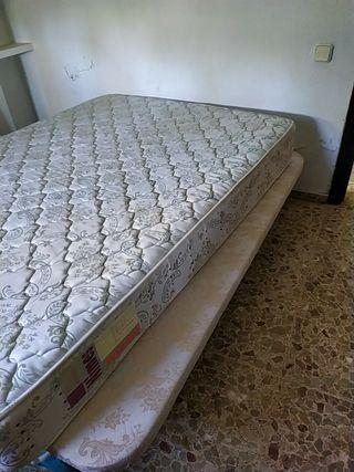 Cama 135x180 canape y colchon