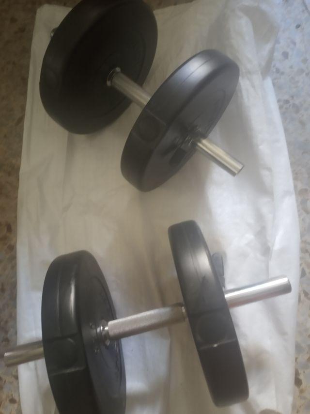 juego de 2 pesas