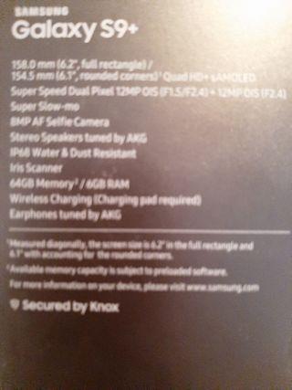 Samsung Galaxy S9+ de 64 GB.