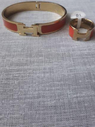 conjunto pulsera y anillo