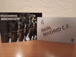 Postales firmadas Real Madrid