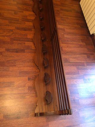 Perchero grande de madera maciza
