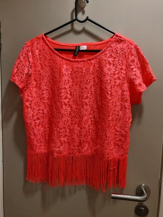 neon fringed top