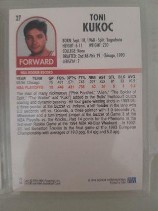 Trading card TONI KUKOC (Chicago Bulls) #27