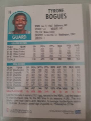 Trading card MUGGSY BOGUES (Charlotte Hornets) #16