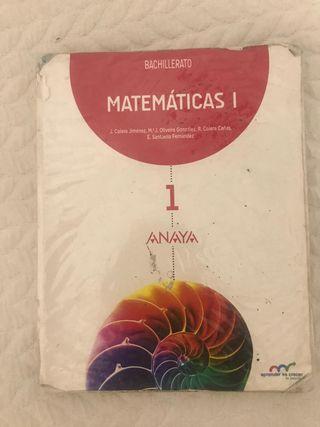 Libro Matemáticas 1 Bachillerato Anaya