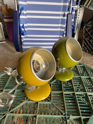 Pareja de lámparas de diseño vintage