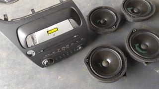 radio cd y altavoces honda civic