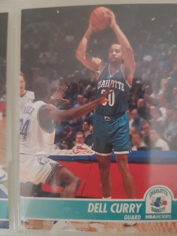 Trading card DELL CURRY (Charlotte Hornets) #18
