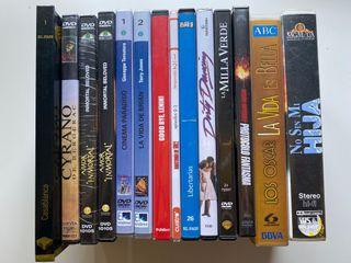 Películas. DVD y cintas de vídeo.