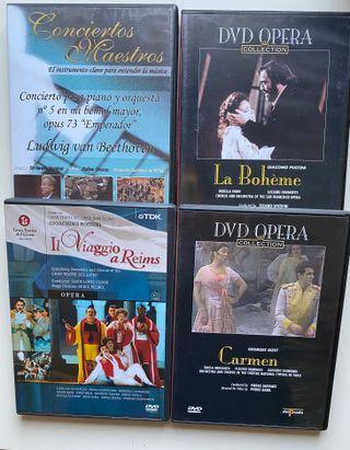 4 DVD´s sobre música clásica. Ópera y concierto