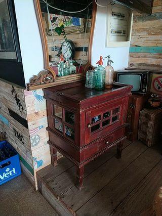 excelente ,mueble vintage bodega bar