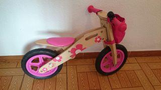 Bicicleta rosa sin pedales niña 2-3 años