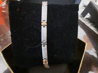 pulsera de acero macizo