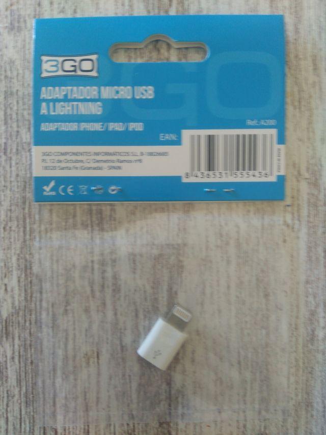 Adaptador Micro USB a Lightning