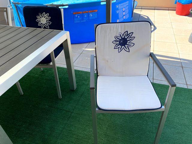 4 Cojines para silla de exterior