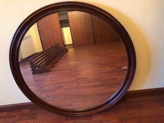 Espejo de pared madera 80cm