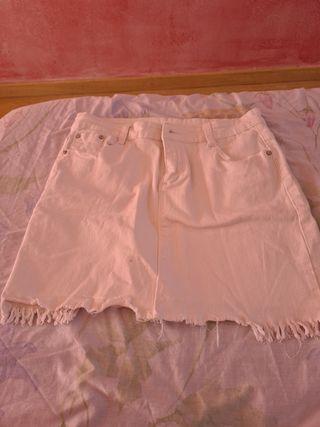 Falda Blanca Vaquera Talla L