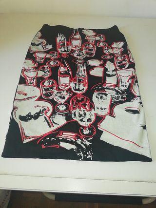 falda ajustada. Andy Warhol. TS