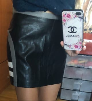 falda tipo cuero talla 38