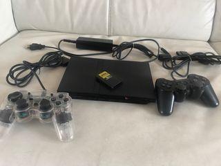PlayStation 2 ps2 con 2 mandos,tarjeta de memoria
