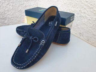 Zapatos (Mocasín) de serraje talla 40 (Mujer)