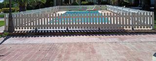 Valla de PVC para piscina
