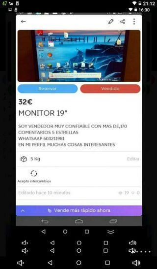"Monitor 19"" muy buena imagen"