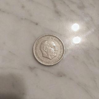 Moneda de franco 5 pesetas 1957