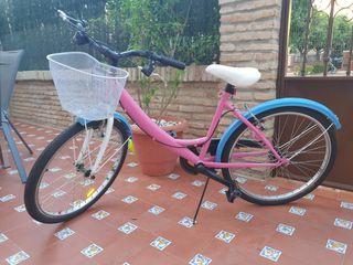 bicicleta de chica, tamaño mediano