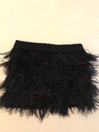 Falda plumas de Zara