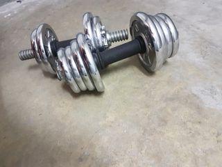 Mancuernas con pesas metálicas