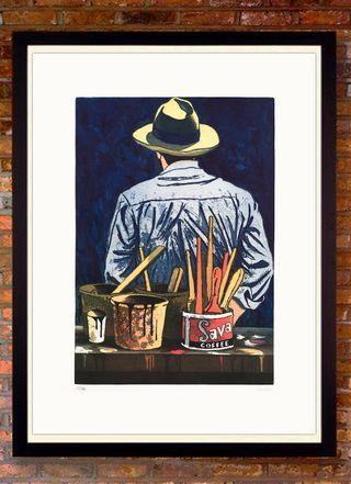 EDUARDO URCULO -El pintor de espaldas- 1991 Numera