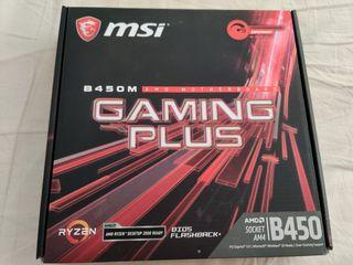Placa Base AMD MSI GAMING PLUS B450M (SOC AM4)