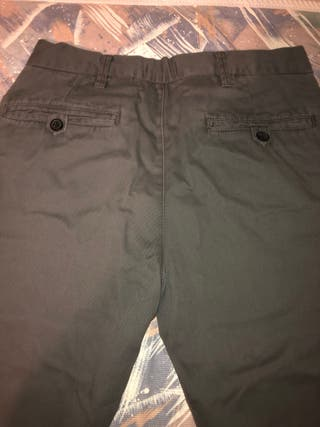 Pantalón talla 38 gris de vestir