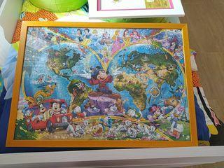 Cuadro mapa del mundo disney