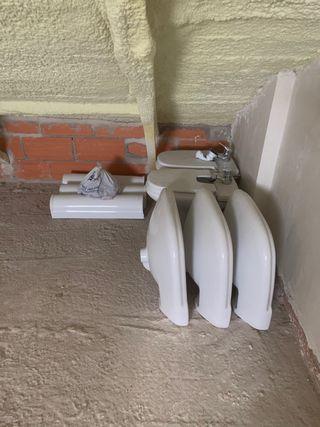 2 bides completos + 3 lavabos con pie