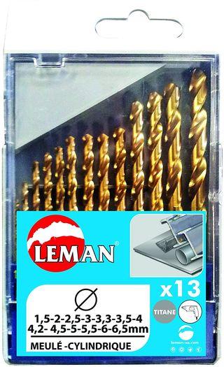 Juego de 13 brocas para metal 803.000.13 Leman