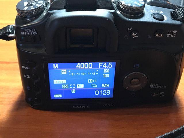 Camara reflex sony a100